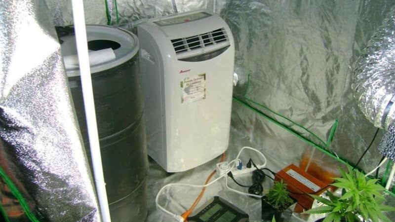 Reduce temperatures by adding an air conditioner to your tent