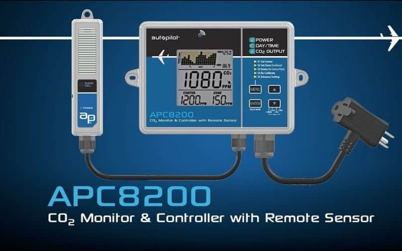 Autopilot APC8200 CO2 Monitor & Controller With Memory