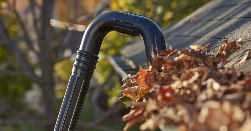 how to make a gutter cleaner from a leaf blower
