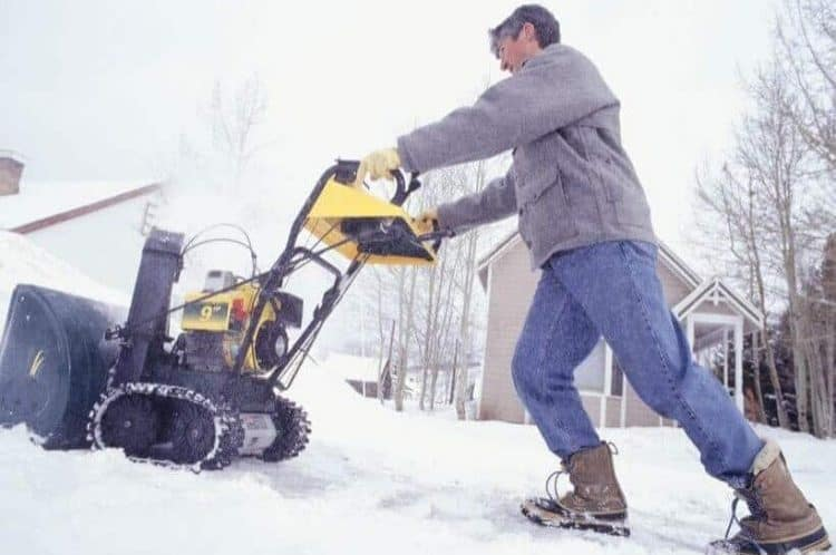 Deal With A Frozen Windrow With A Two-Stage Snow Blower