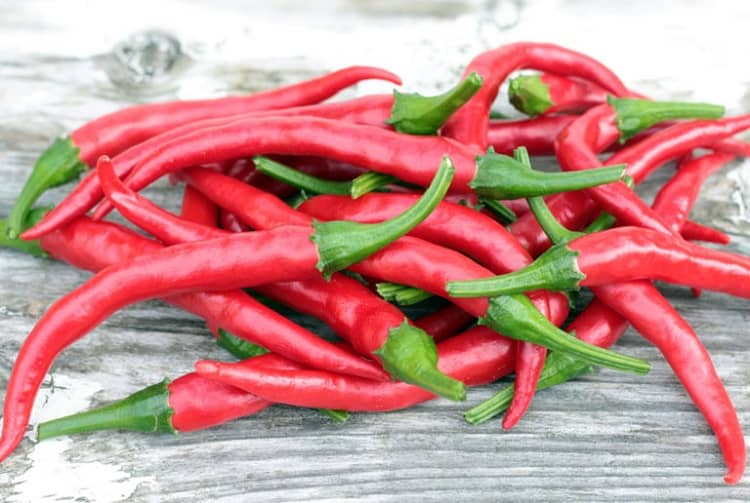 Long Slim Cayenne Peppers