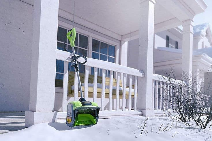 Green Electric Snow Showel