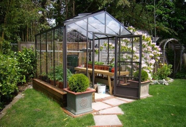 Small Glass Greenhouse