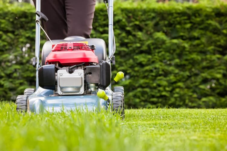 Using Gas Operated Lawn Mower