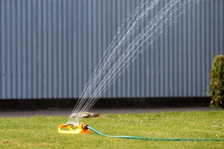 Using Lawn Sprinkler